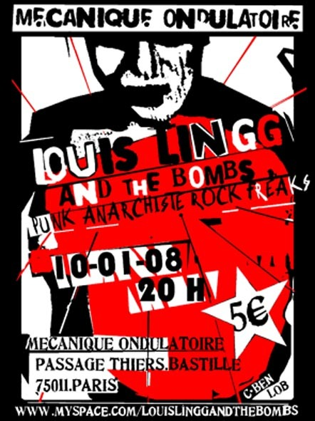 Louis Lingg and the Bombs à la Mécanique Ondulatoire le 10 janvier 2008 à Paris (75)