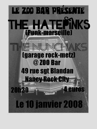 Concert Garage Punk au Zoo Bar le 10 janvier 2008 à Nancy (54)