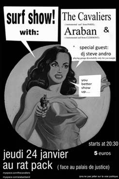 Concert Surf Rock avec The Cavaliers et Araban