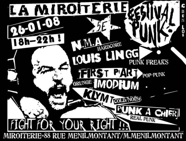 festival punk la miroiterie le 26 janvier 2008 paris 75 razibus concerts punk ska. Black Bedroom Furniture Sets. Home Design Ideas