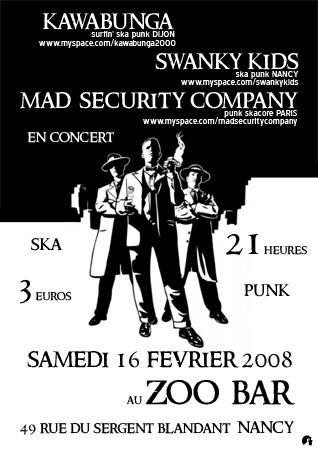 Concert Ska Punk au Zoo Bar le 16 février 2008 à Nancy (54)