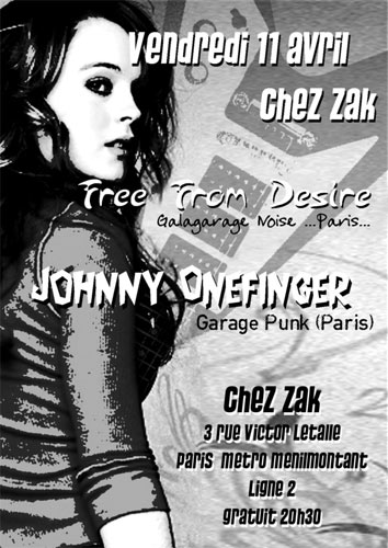 Concert Garage Chez Zak le 11 avril 2008 à Paris (75)