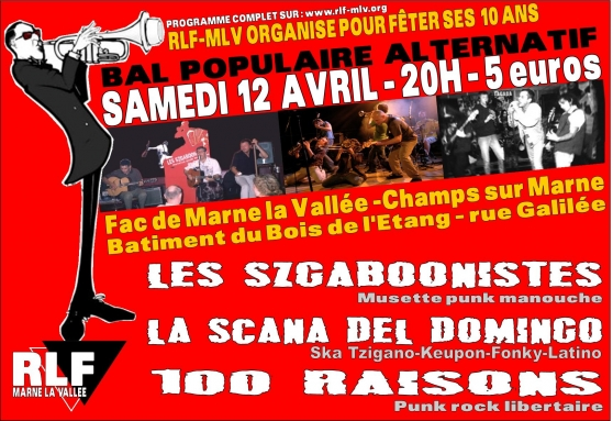 Bal populaire alternatif le 12 avril 2008 à Champs-sur-Marne (77)
