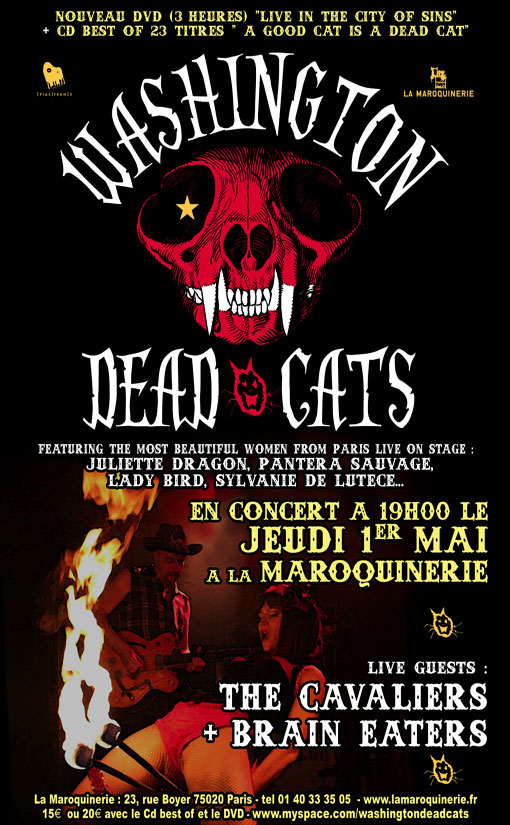 Washington Dead Cats à la Maroquinerie le 01 mai 2008 à Paris (75)
