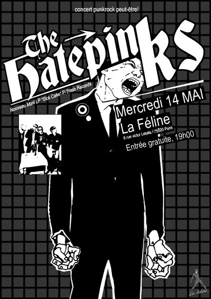 The Hatepinks à la Féline le 14 mai 2008 à Paris (75)