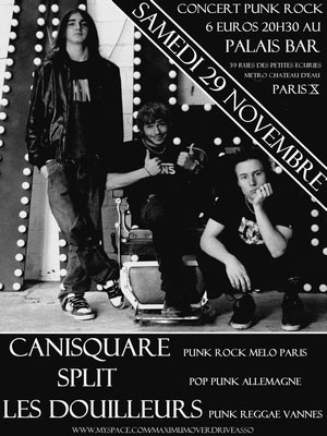 Concert Punk Rock au Palais Bar le 29 novembre 2008 à Paris (75)