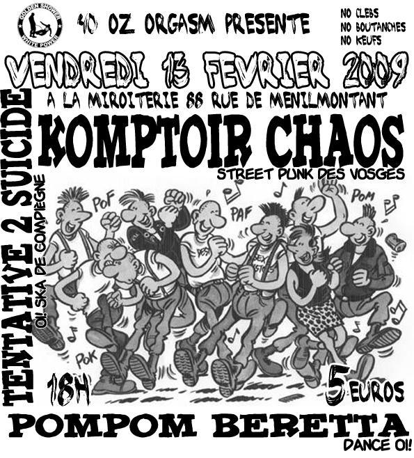 concert punk oi la miroiterie le 13 f vrier 2009 paris 75 razibus concerts punk ska. Black Bedroom Furniture Sets. Home Design Ideas