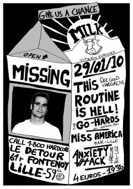 This Routine is Hell + Go Hards + Miss America + Anxiety Attack le 29 janvier 2010 à Lille (59)