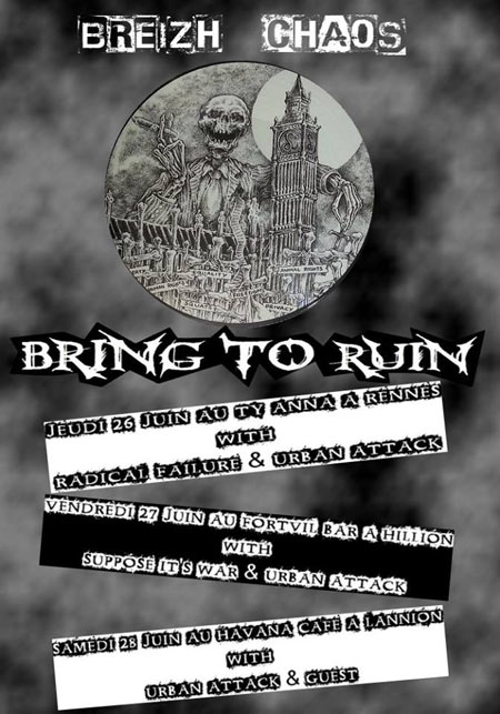 Bring To Ruin + Urban Attack + Suppose It's War au Forvil Bar le 27 juin 2014 à Hillion (22)