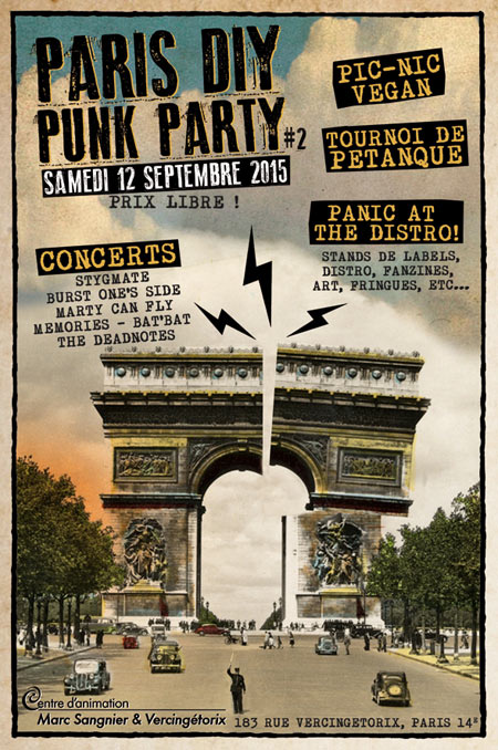PARIS DIY PUNK PARTY le 12 septembre 2015 à Paris (75)