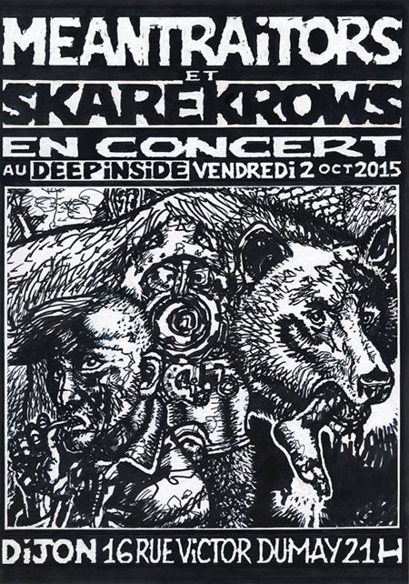 The Meantraitors + Skarekrows au Deep Inside le 02 octobre 2015 à Dijon (21)