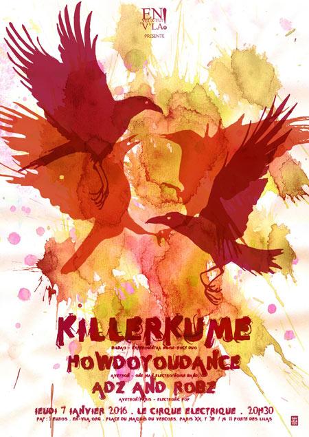 Howdoyoudance killerkume adz and robz le 07 janvier - Le cirque electrique porte des lilas ...