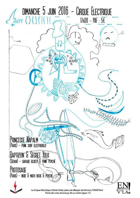 Princesse n palm baptizein secret yolk protosage le - Le cirque electrique porte des lilas ...