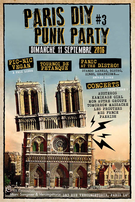 PARIS DIY PUNK PARTY #3 le 11 septembre 2016 à Paris (75)