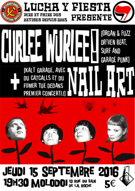 Curlee Wurlee + Nail Art @ Molodoi le 15 septembre 2016 à Strasbourg (67)