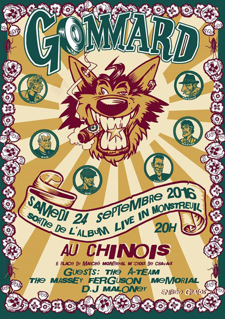 GOMMARD Live in MonStreuil release party @ Chinois le 24 septembre 2016 à Montreuil (93)