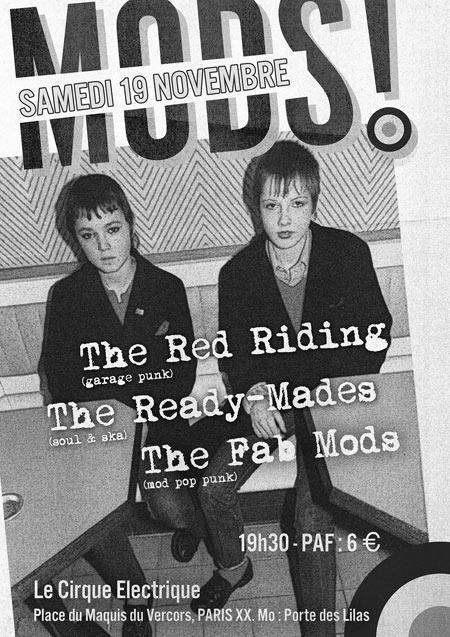 The fab mods the ready mades the red riding le 19 novembre 2016 paris 75 razibus - Le cirque electrique porte des lilas ...