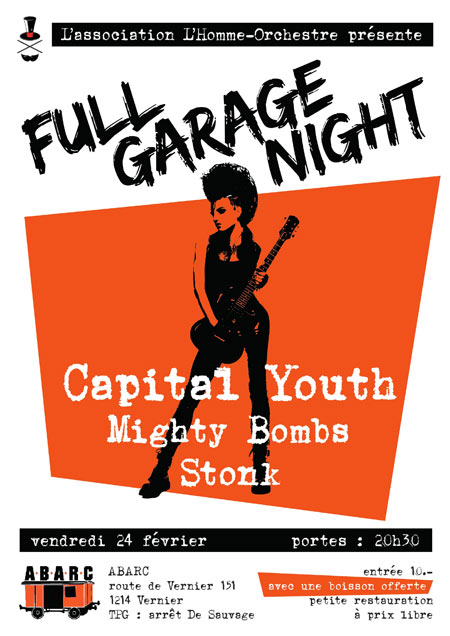 Full Garage Night le 24/02/2017 à Vernier (CH)