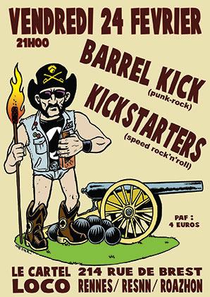 Barrel Kick vs Kickstarters au Cartel Loco le 24/02/2017 à Rennes (35)