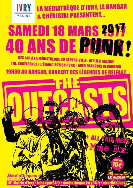 The Outcasts + All This Mess + Mme Ex au Hangar le 18 mars 2017 à Ivry-sur-Seine (94)