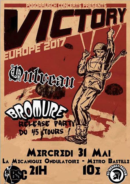 Victory + Bromure + Outreau à la Mécanique Ondulatoire le 31/05/2017 à Paris (75)