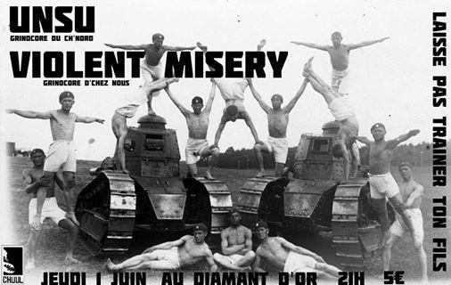 Unsu & Violent Misery au Diamant d'Or le 01/06/2017 à Strasbourg (67)