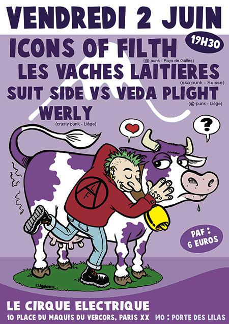 Icons of Filth /// Les Vaches Laitières /// Werly... le 02/06/2017 à Paris (75)