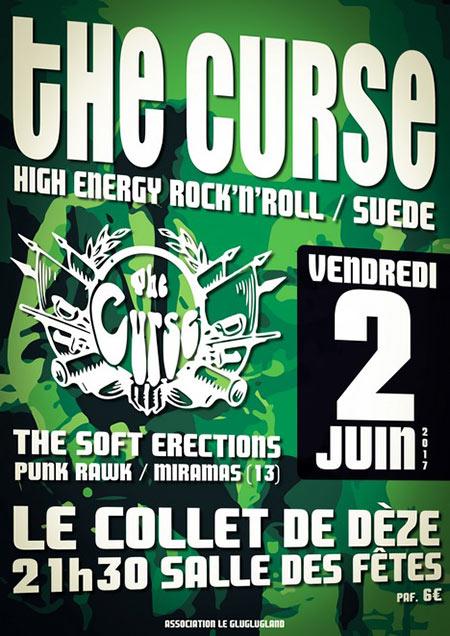 Concert The Curse / The Soft Erections le 02/06/2017 à Le Collet-de-Dèze (48)