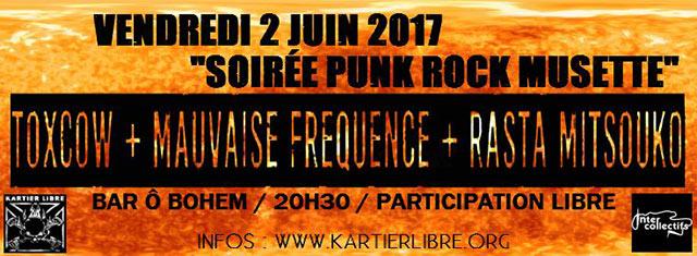Concert au Ôbohem le 02/06/2017 à Toulouse (31)