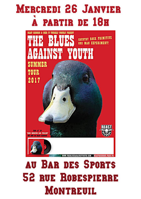 The Blues Against Youth @ BDS le 26/07/2017 à Montreuil (93)