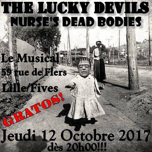 The Lucky Devils + Nurse's Dead Bodies au Musical le 12 octobre 2017 à Lille (59)