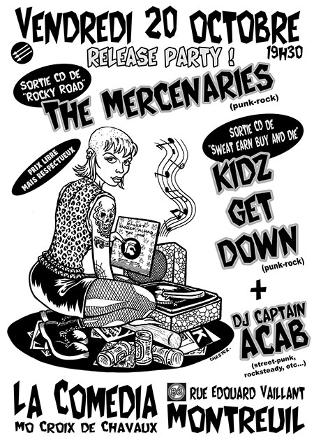 THE MERCENARIES + KIDZ GET DOWN + CAPTAIN'ACAB le 20 octobre 2017 à Montreuil (93)