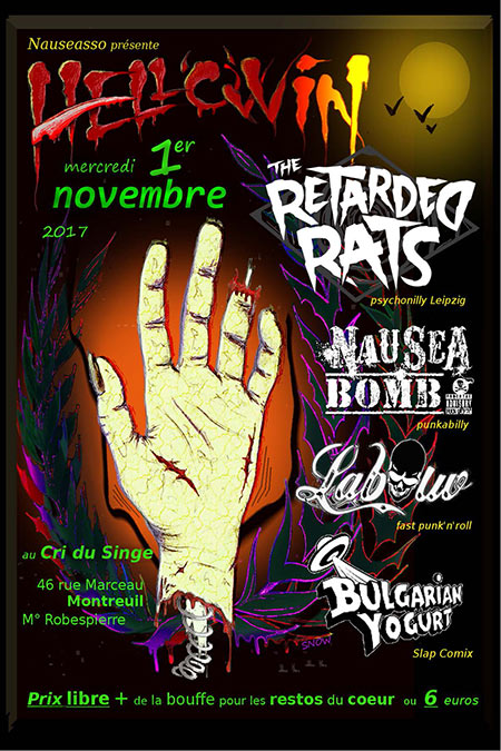 Hello Win : Psychobilly, Punkabilly, Fast Punk'n'Roll le 01/11/2017 à Montreuil (93)