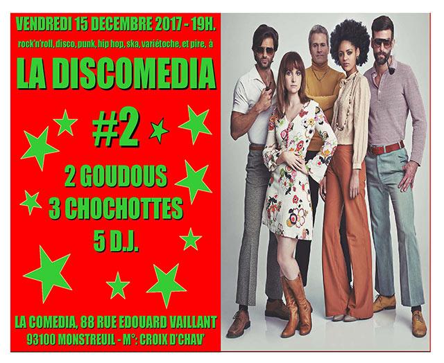 LA DISCOMEDIA NUMBER TWO le 15/12/2017 à Montreuil (93)
