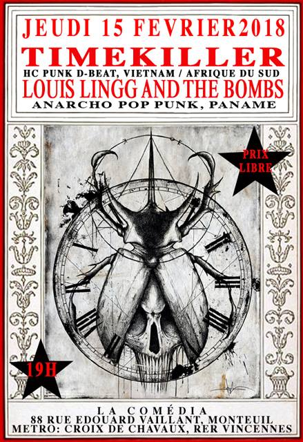 TIME KILLER / LOUIS LINGG AND THE BOMBS le 15 février 2018 à Montreuil (93)