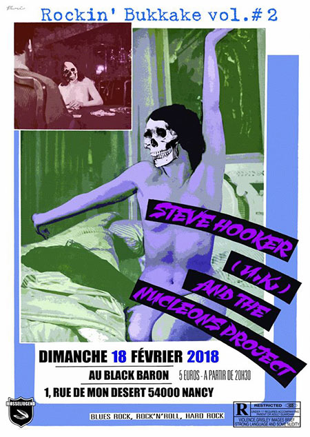 Steve Hooker (UK) & the Nucleons Project au Black Baron Club le 18 février 2018 à Nancy (54)