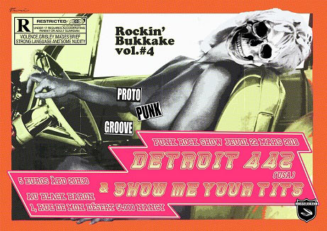 Detroit 442 & Show Me Your Tits au Black Baron Club le 22/03/2018 à Nancy (54)