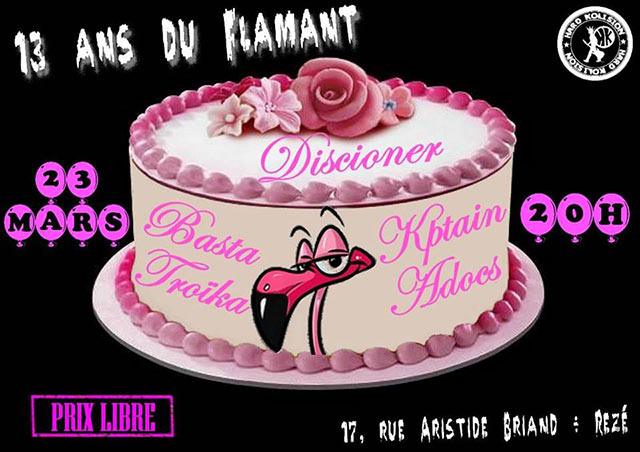 13 ans du flamant le 23 mars 2018 rez 44 razibus concerts punk ska hardcore manifs. Black Bedroom Furniture Sets. Home Design Ideas