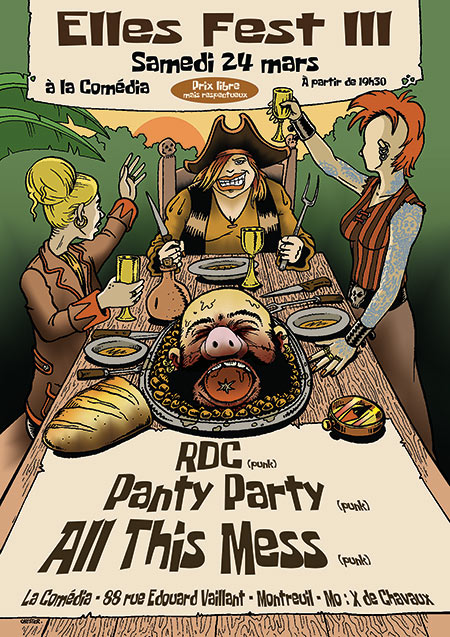 Elles Fest III avec ALL THIS MESS + RDC + PANTY PARTY le 24/03/2018 à Montreuil (93)