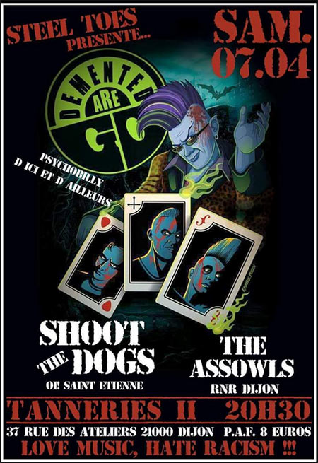 Demented Are Go / Shoot The Dogs / The Assowls le 07 avril 2018 à Dijon (21)