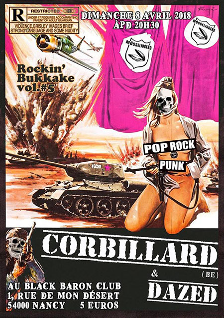 Corbillard (BE) & Dazed au Black Baron Club le 08 avril 2018 à Nancy (54)