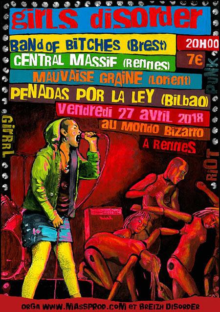 GIRLS DISORDER au MONDO BIZARRO le 27/04/2018 à Rennes (35)