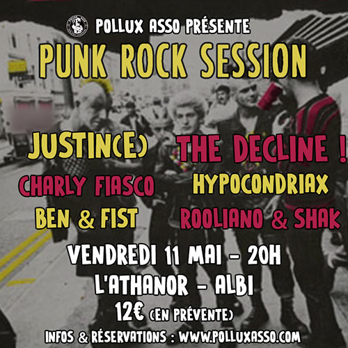 Punk Rock Session à L'Athanor le 11 mai 2018 à Albi (81)