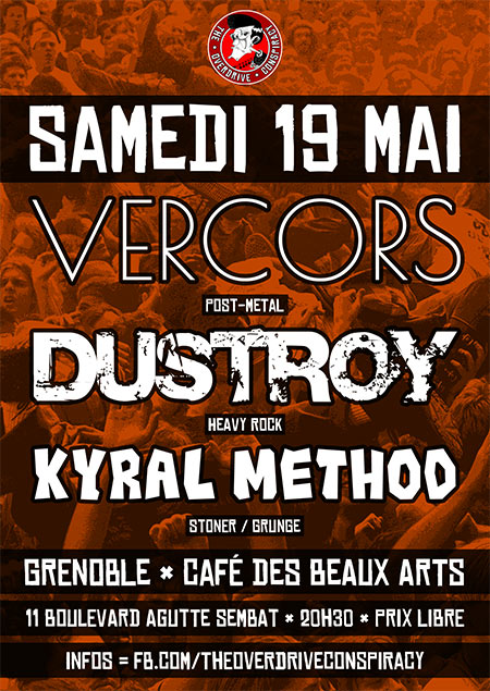 Vercors + Dustroy + Kyral Method le 19 mai 2018 à Grenoble (38)