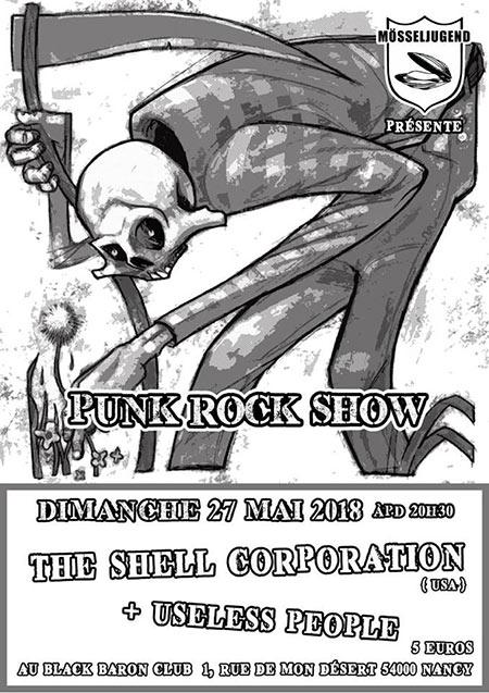 The Shell Corporation (USA) & Useless People au Black Baron Club le 27/05/2018 à Nancy (54)