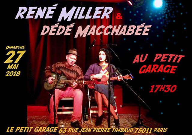 René Miller et Dédé Macchabée en concert au Petit Garage le 27/05/2018 à Paris (75)