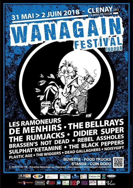 Wanagain Festival à l'Espace Loisirs le 01/06/2018 à Clénay (21)
