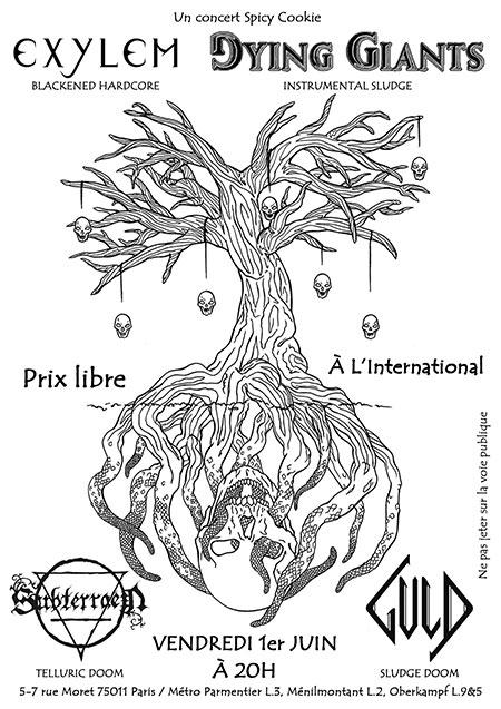 DYING GIANTS + EXYLEM + SUBTERRAEN + GULD à l'International le 01/06/2018 à Paris (75)