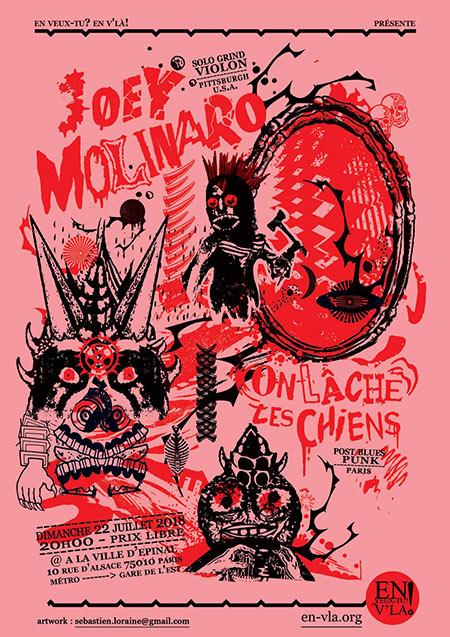 Joey Molinaro +  On Lâche Les Chiens le 22/07/2018 à Paris (75)