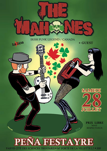 THE MAHONES + GUEST @ PEÑA le 28 juillet 2018 à Paris (75)
